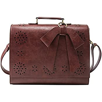 The ECOSUSI Ladies Faux Leather Briefcase