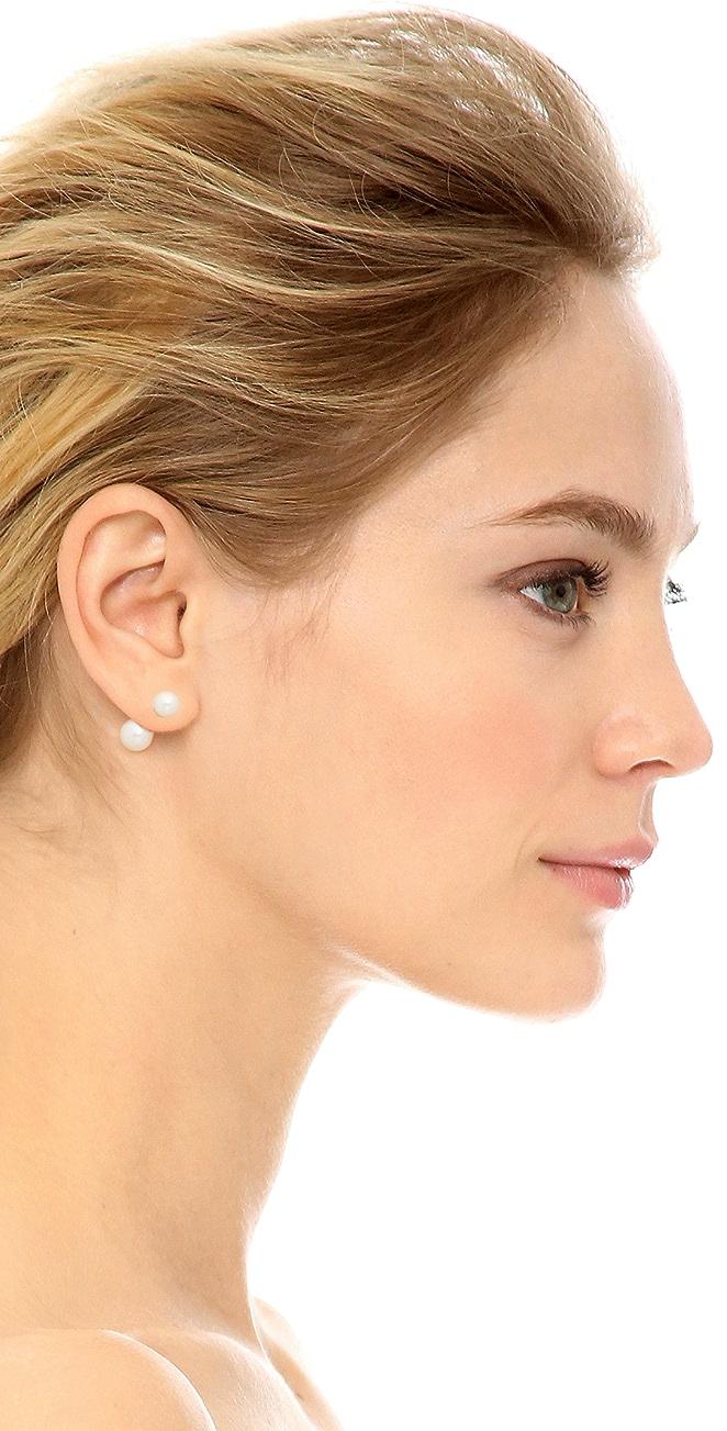 14k Gold Reversible Stud Earrings