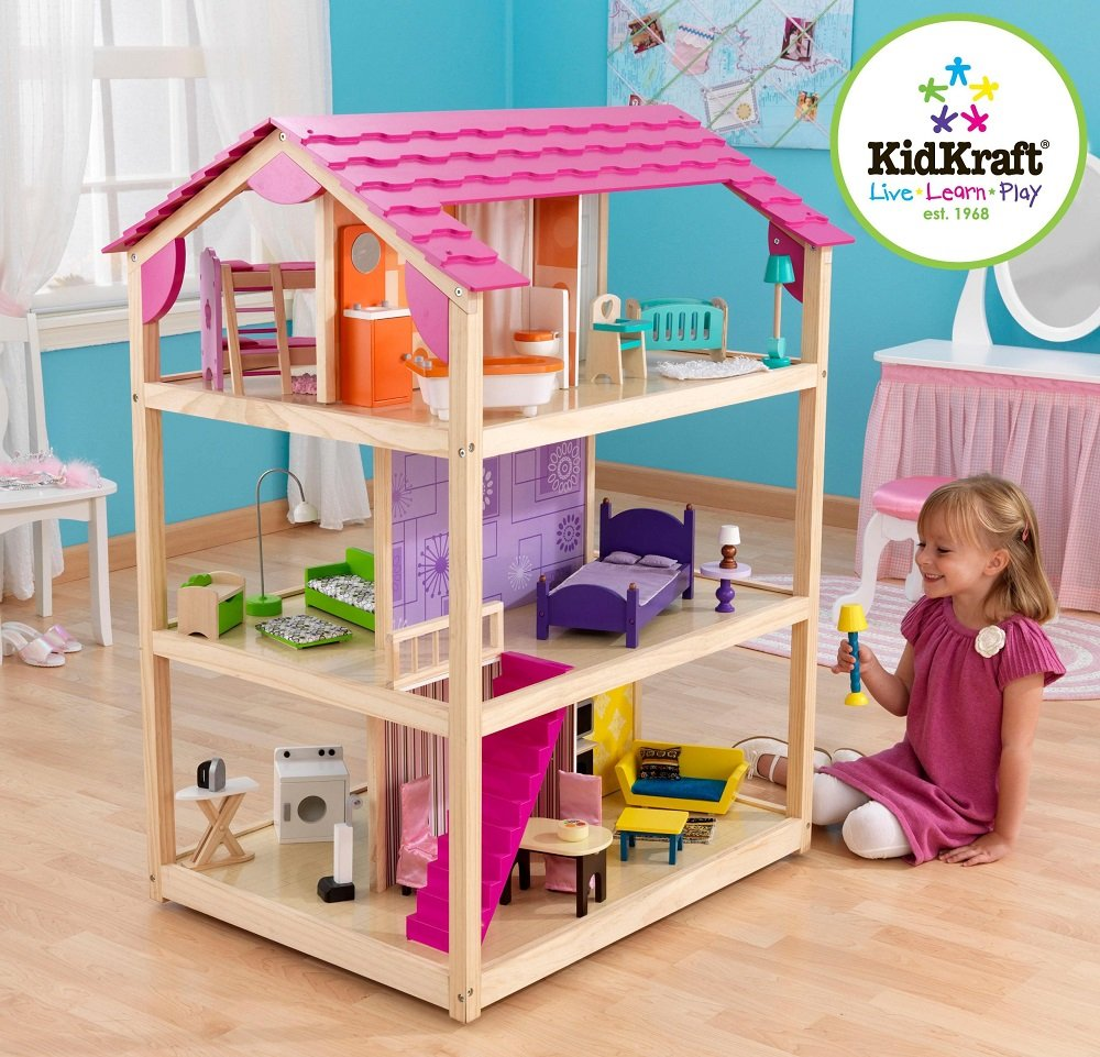 Barbie doll house furniture - So Chic Dollhouse Can Be Played From All Four Open Sides