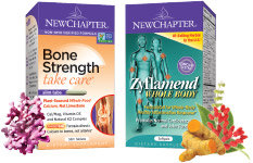 New Chapter Bone Strength Take Care and Zyflamend Whole Body