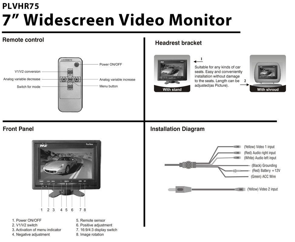 Brilliant Headrest Monitor Wiring Diagram General Wiring Diagram Data Wiring Digital Resources Dadeaprontobusorg
