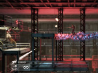 Using the foam ability while platforming in Shadow Complex