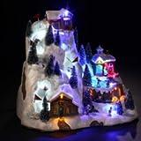 Pueblo de Navidad luminoso Pista de esquí pista super G