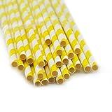 Denshine (TM) 25pcs x Pajitas Paja de papel Rayas Para