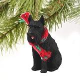 Ornamento del perro Schnauzer gigante miniatura - negro