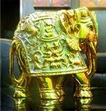 Elefante, oro y plata mediano-Estatua Escultura Decoración para el hogar,