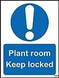 Planta habitación Keep bloqueado señal-vinilo autoadhesivo 200mm x 150mm
