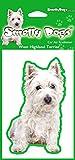 West Highland Terrier perro regalo-2x. Ideal ambientadores para el coche