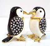 Miniatura, una figura de Pingüino (sólo un pingüino). Anillero. Elaborado