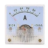 91C4 puntero aguja DC 0-1A Panel amperímetro analógico comprobador de