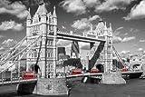 Londres - Póster - Westminster, Bridge - autobús + meno-Póster