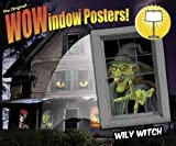 "WOWindow Posters Wily Witch Scary Halloween Window Decoration 34.5""x60"" backlit"