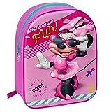 Mochila Acolchada Minnie Mouse Disney 3D para Guardería Colegio