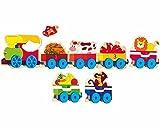 Números Steckspiel PUZZLE Steckpuzzle Madera Puzzle aprenden ferroviarias Animales