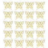 20pcs Etiquetas de Madera Decoración de Forma de Mariposa Percha