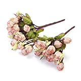 2 Ramos de Rosas Artificiales Decoración Arte Arreglo Floral Fotografía
