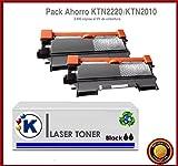 KONVER K-TN2220/K-TN2210/ K-TN2010, Pack Ahorro 2 Toner Compatible (NON OEM)
