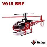 Frontier 2.4g v915 WLtoys escala de 4 canales rc helicóptero