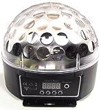 Cablematic - Bola LED DMX512 luz RGB cristal