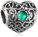 Pandora Mujer plata de ley 925 plata verde cristal