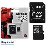 Tarjeta de memoria Micro Tarjeta SD 8GB for Samsung Galaxy