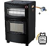 Cerámica calefactor infrarrojos Gas Calefacción 5,4kW Gas Foco calefactor halógeno