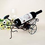 T & S Creative Hierro forjado botellero botellero obra rickshaw