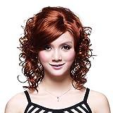 OOFAY JF® sin tapa medio sintético de alta calidad peluca