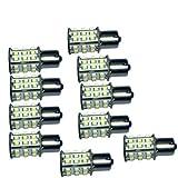 HQRP Paquete de 10 bombillas LED BA15s 30 LEDs SMD