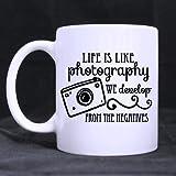 Bienvenido. Estilo Cool fotógrafo regalo taza de café Vida es