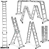 Escalera multifunción 6 en 1 de aluminio 4,75M Escalera Plegable