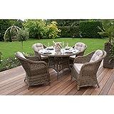 Dorset ratán muebles de jardín mesa de comedor redonda con