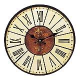YESURPRISE Reloj Redondo Colgante De Pared Estilo Vintage Clásico Analógico
