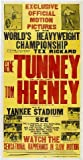 Gene tunney VS TOM HEENEY aktions-Reimpresión de un Promo Posters