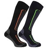 FLOSO - Calcetines de esqui para caballero (Pack de 2)