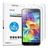 OMOTON [2pack]Cristal Templado Galaxy S5 Protector de Pantalla Vidrio Templado