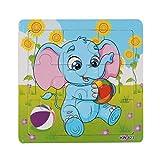 Juguetes, Oyedens Elefante De Madera Rompecabezas Juguetes Para La Educación