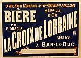 Cerveza La Croix de Lorraine, Francia, Reproducción sobre Calidad 200gsm