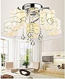 El cristal llevó la lámpara de techo moderna minimalista sala