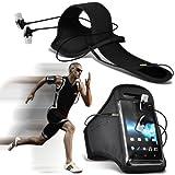 (Black) LG L40 D160 Sports Running Arm Band Jogging Librar