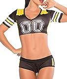 V-SOL Mujer Camiseta Corto Manga Corto con Calzoncillo Costume Fútbol