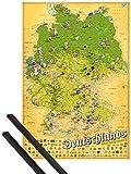 Póster + Soporte: Cerveza Póster (91x61 cm) Mapa De Cervecerias