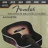 Juego 6 Cuerdas De Bronce para Guitarra Acustica Española Fender