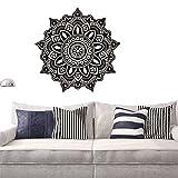 gossipboy vinilo adhesivo de pared Negro Diseño de flores Mantra