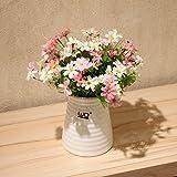 ShiQi Flores artificiales falso piso salón alto Arreglo floral en