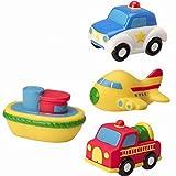 Bebé Baño de agua tiempo divertido goma Squirties juguete vehículo