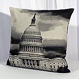 """Estilo moderno contemporáneo-Funda de almohada """"Capitol"""" El Hermoso hito Washington-tamaño"""
