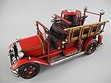 Camión de bomberos Antiguo Hierro l.35X 17X 14Cm
