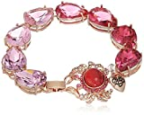 Betsey Johnson Boat House Crab Ombre Faceted Stone Bracelet by