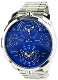 BELLOS -Reloj Hombre Azul Cuarzo Caja de acero Pantalla Analógica